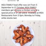 IKEA's chicken wings